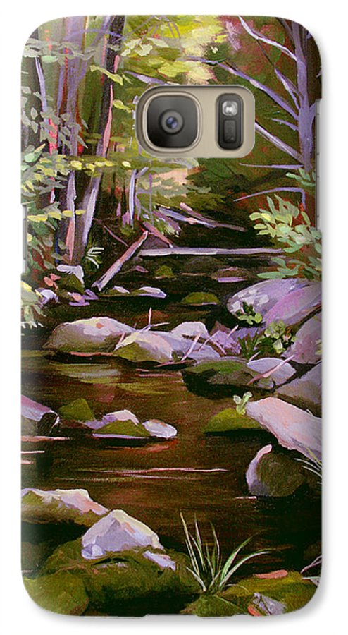 Peoples State Forest Galaxy S7 Case featuring the painting Quiet Brook by Nancy Griswold