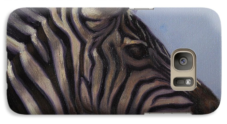 Zebra Galaxy S7 Case featuring the painting Quiet Profile by Greg Neal