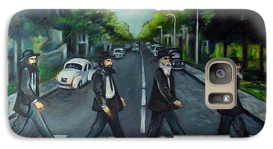Surreal Galaxy S7 Case featuring the painting Rabbi Road by Valerie Vescovi