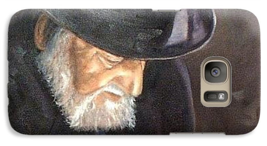Portrait Galaxy S7 Case featuring the painting Rabbi by Toni Berry