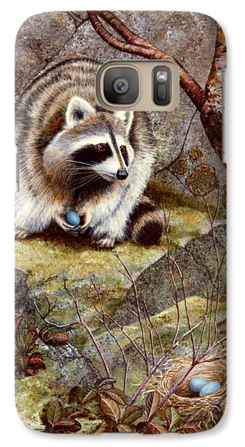 Raccoon Found Treasure Galaxy S7 Case featuring the painting Raccoon Found Treasure by Frank Wilson