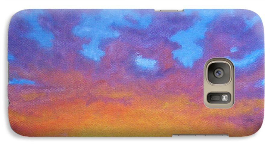 Landscape Galaxy S7 Case featuring the painting Radiance by Brian Commerford