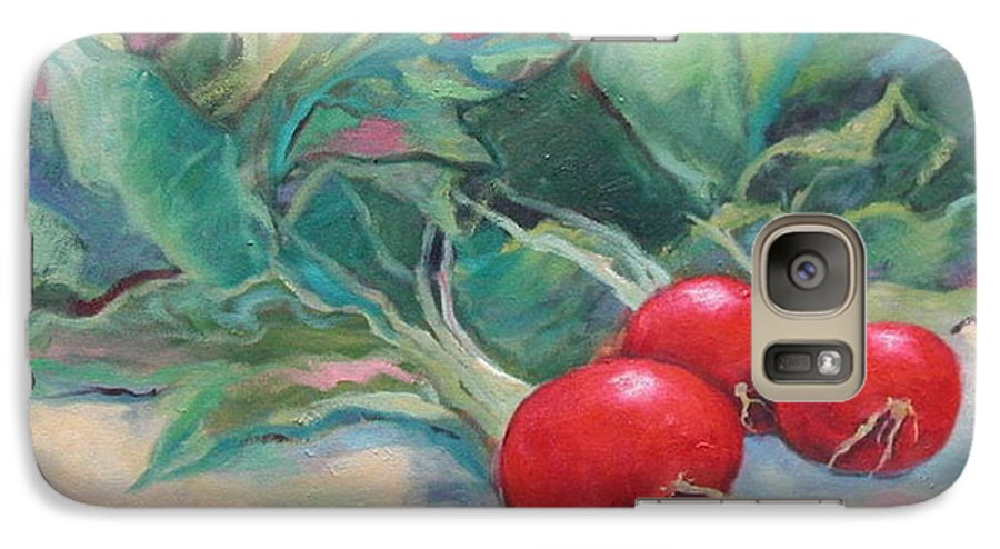 Radishes Galaxy S7 Case featuring the painting Radishes by Ginger Concepcion
