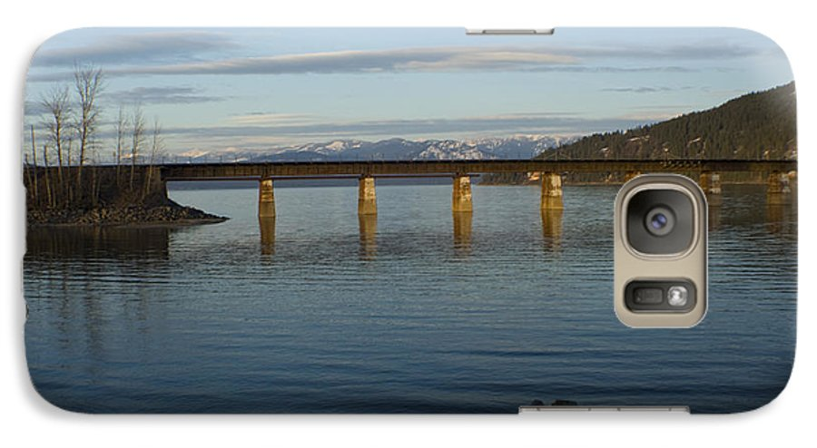 Bridge Galaxy S7 Case featuring the photograph Railroad Bridge Over The Pend Oreille by Idaho Scenic Images Linda Lantzy