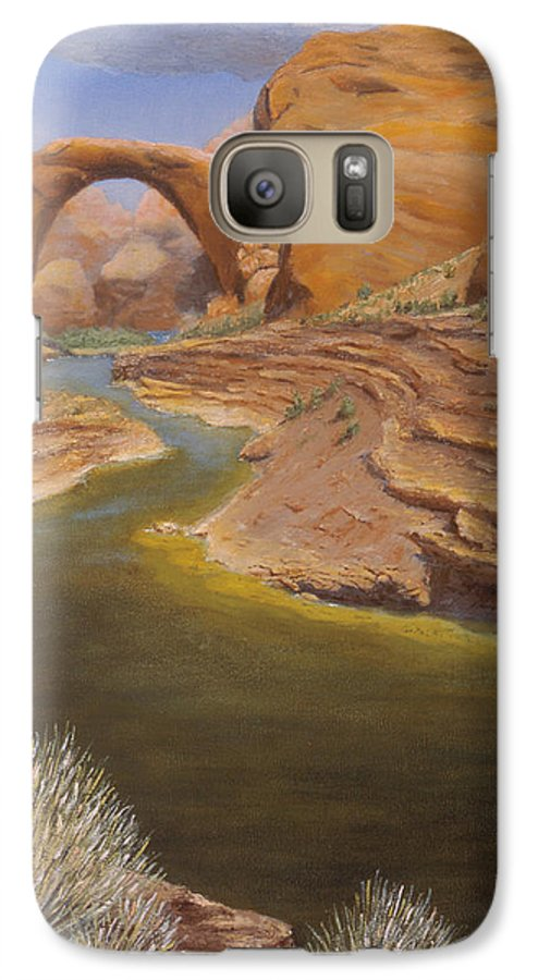 Rainbow Bridge Galaxy S7 Case featuring the painting Rainbow Bridge by Jerry McElroy