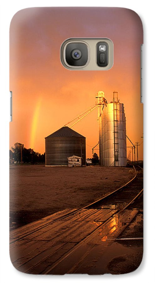 Potter Galaxy S7 Case featuring the photograph Rainbow In Potter by Jerry McElroy