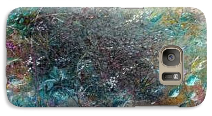 Original Abstract Painting Of Under The Sea Galaxy S7 Case featuring the painting Rainbow Reef by Karin Dawn Kelshall- Best