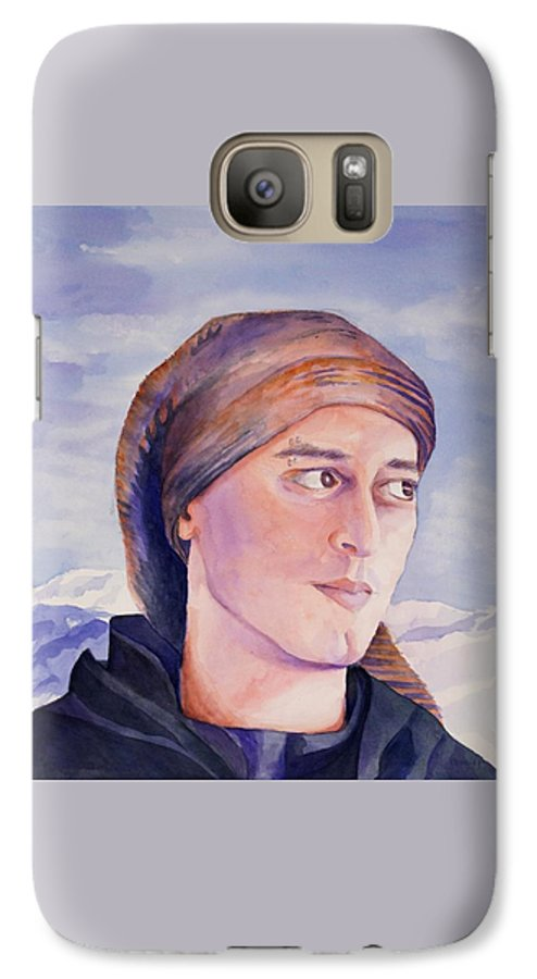 Man In Ski Cap Galaxy S7 Case featuring the painting Ram by Judy Swerlick