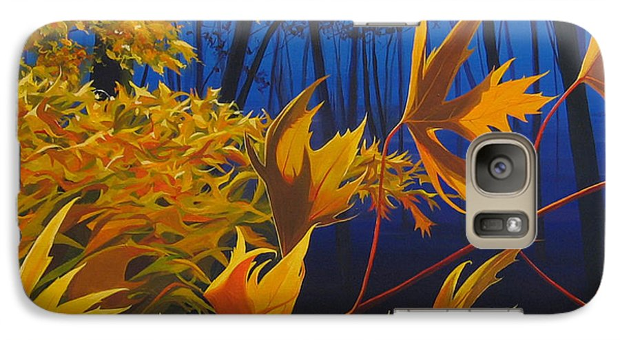 Autumn Leaves Galaxy S7 Case featuring the painting Raucous October by Hunter Jay