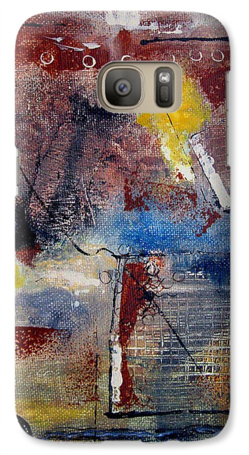 Abstract Galaxy S7 Case featuring the painting Raw Emotions II by Ruth Palmer