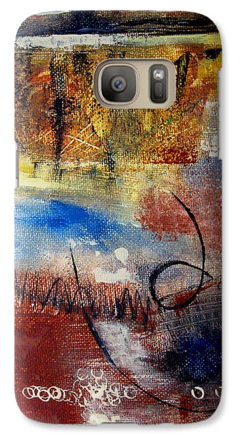 Abstract Galaxy S7 Case featuring the painting Raw Emotions by Ruth Palmer