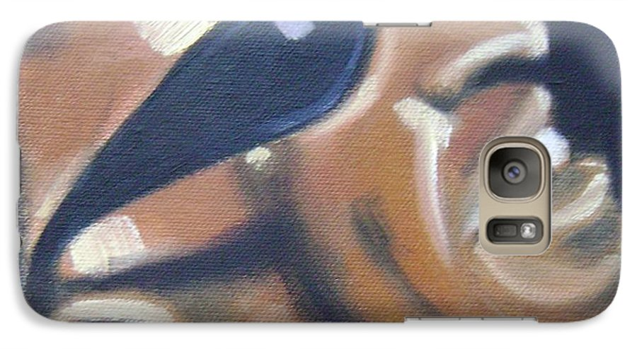 Ray Charles Galaxy S7 Case featuring the painting Ray Charles by Toni Berry