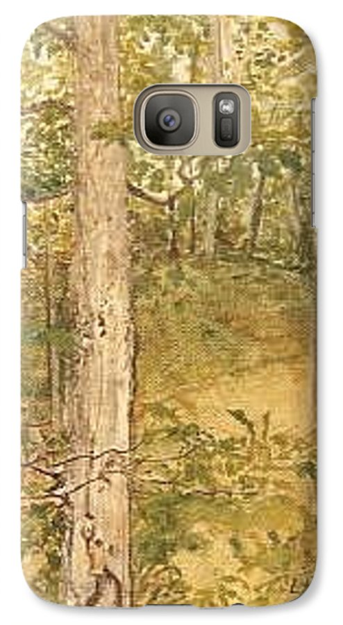 Trees Galaxy S7 Case featuring the painting Raystown Lake by Leah Tomaino