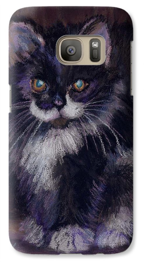 Kitten Galaxy S7 Case featuring the painting Ready For Trouble by Sharon E Allen