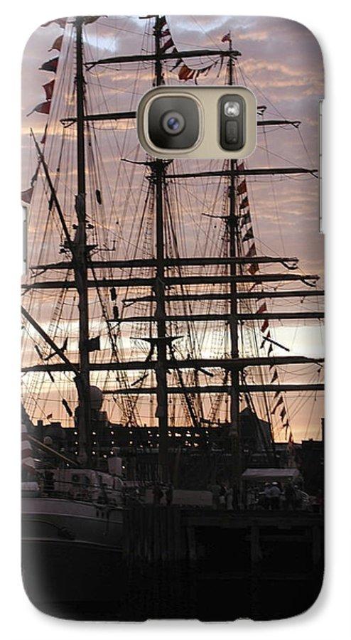 Eagle Galaxy S7 Case featuring the photograph R'eagle Sunset by Faith Harron Boudreau