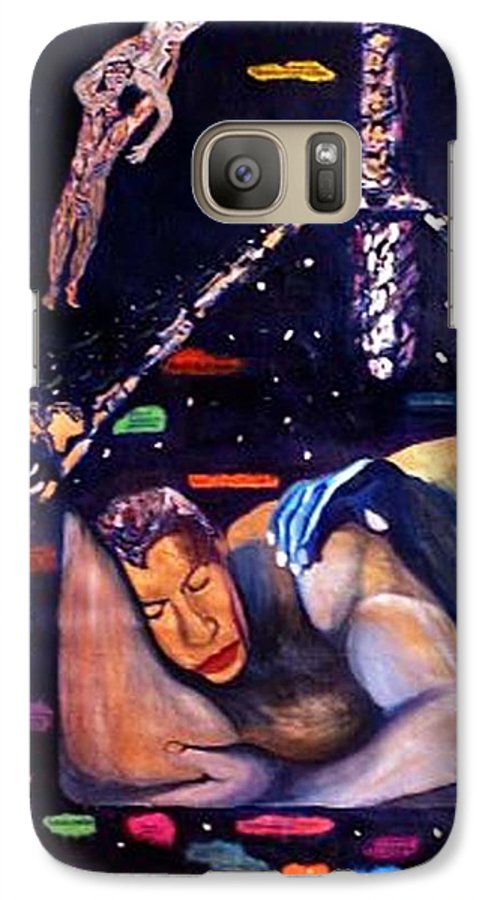 Nudes Galaxy S7 Case featuring the painting Realities Which Will Be Artifacts by Stephen Mead