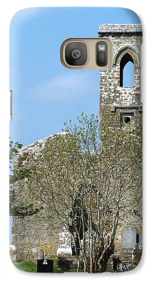 Fuerty Galaxy S7 Case featuring the photograph Rear View Fuerty Church And Cemetery Roscommon Ireland by Teresa Mucha