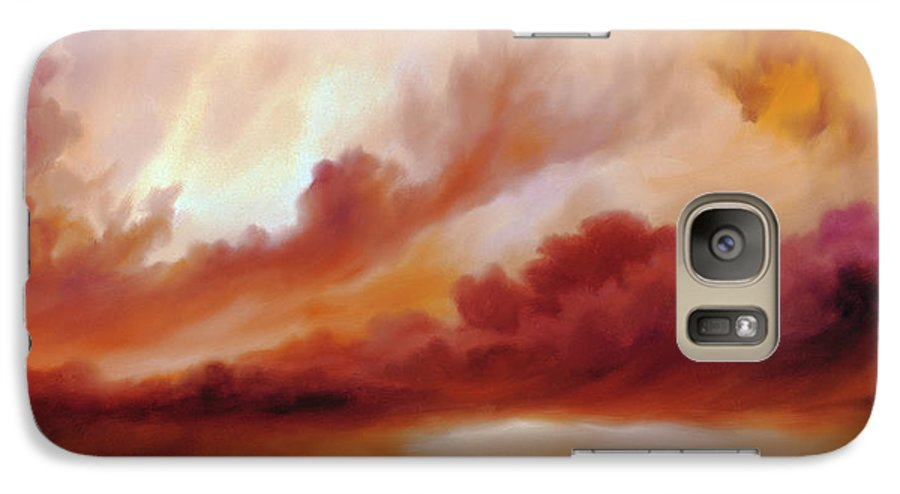 Skyscape Galaxy S7 Case featuring the painting Receding Storm Sketch IIi by James Christopher Hill