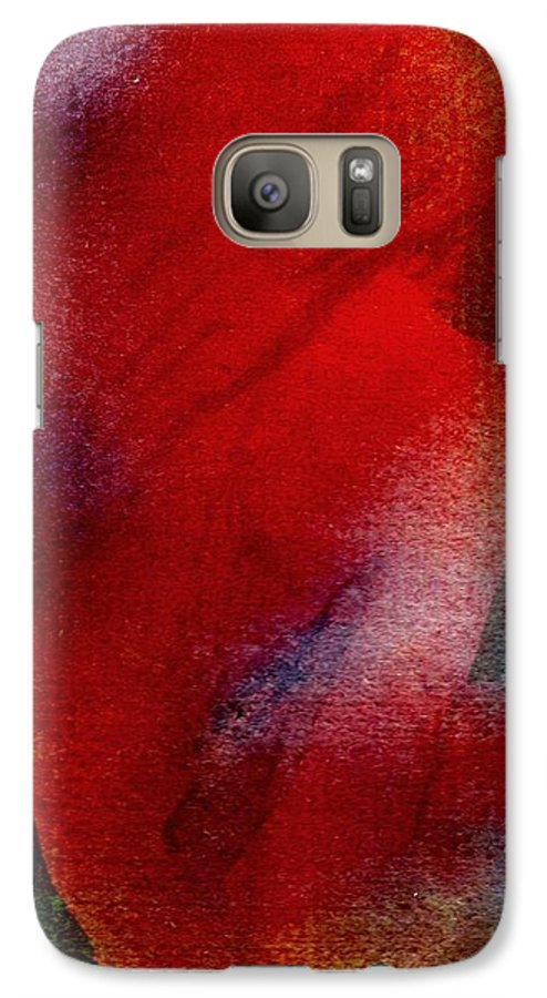 Nude Galaxy S7 Case featuring the painting Red Boudoir by Susan Kubes