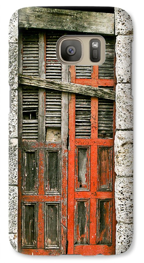 Door Galaxy S7 Case featuring the photograph Red Door by Douglas Barnett