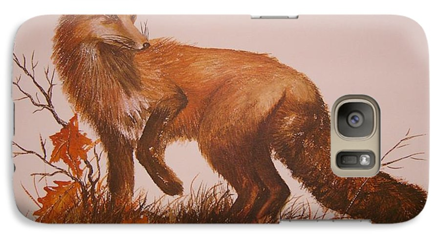 Nature Galaxy S7 Case featuring the painting Red Fox by Ben Kiger