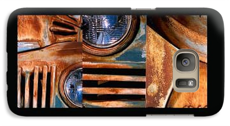 Abstract Photo Of Chevy Truck Galaxy S7 Case featuring the photograph Red Head On by Steve Karol