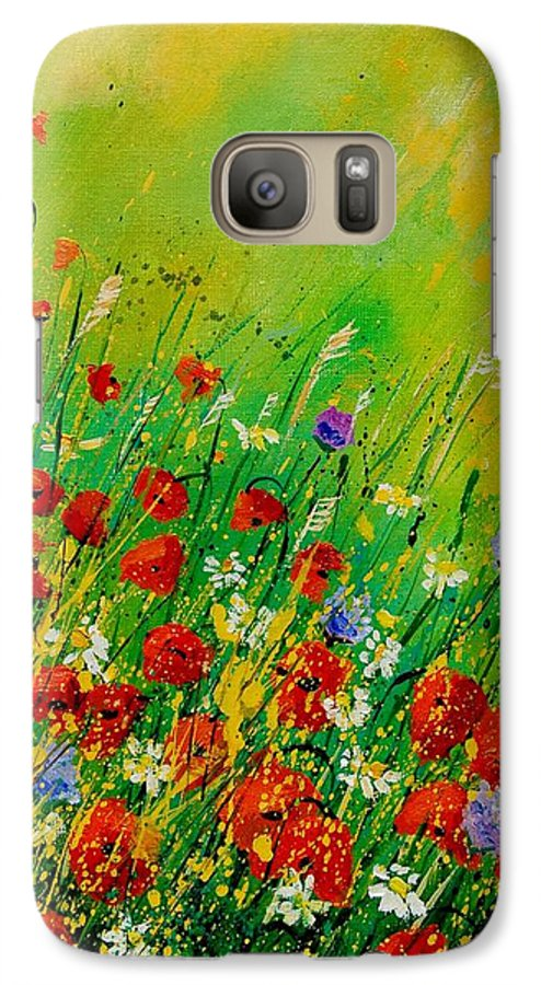 Flowers Galaxy S7 Case featuring the painting Red Poppies 450708 by Pol Ledent