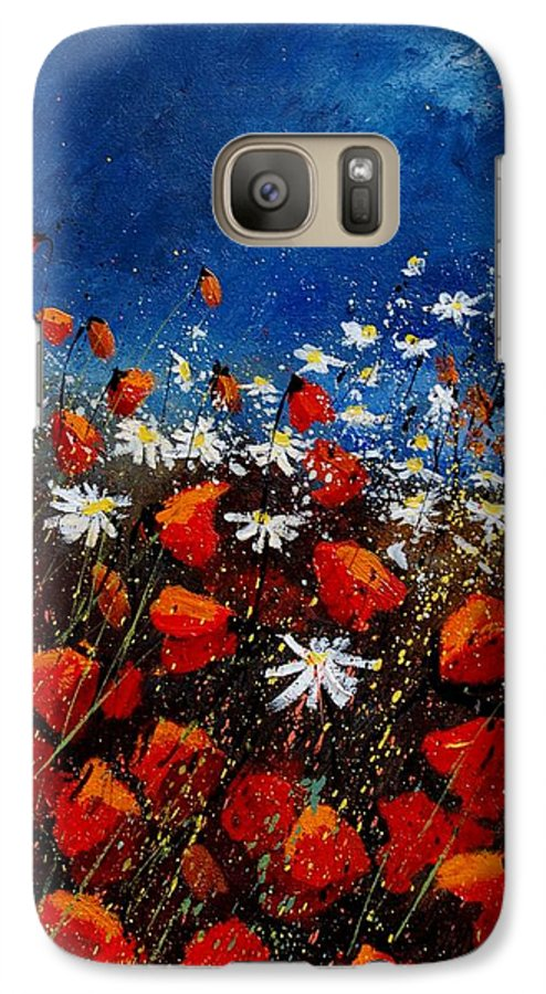 Flowers Galaxy S7 Case featuring the painting Red Poppies 451108 by Pol Ledent