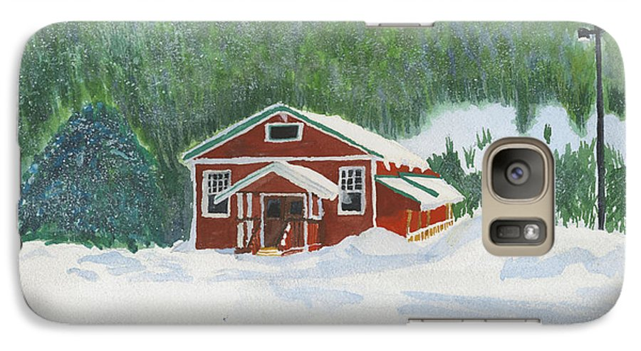 Schoolhouse Galaxy S7 Case featuring the painting Red School House by Louise Magno