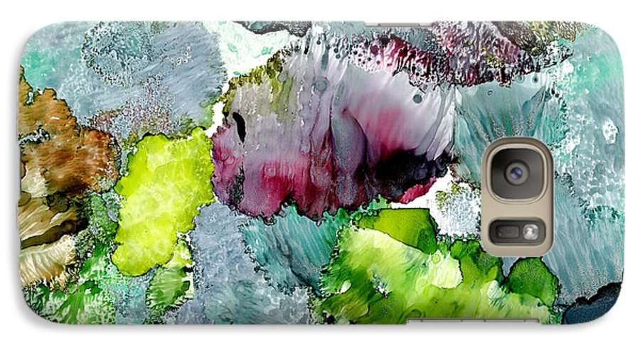 Reef Galaxy S7 Case featuring the painting Reef 4 by Susan Kubes