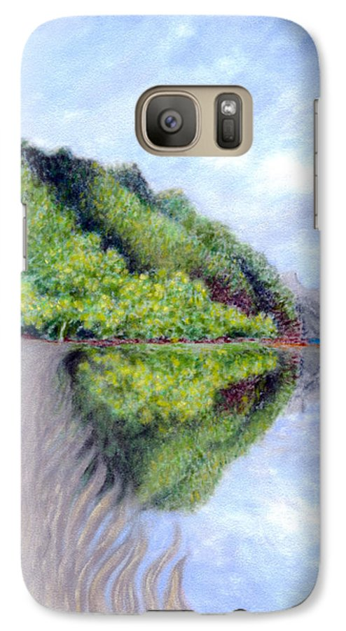 Coastal Decor Galaxy S7 Case featuring the painting Reflection by Kenneth Grzesik