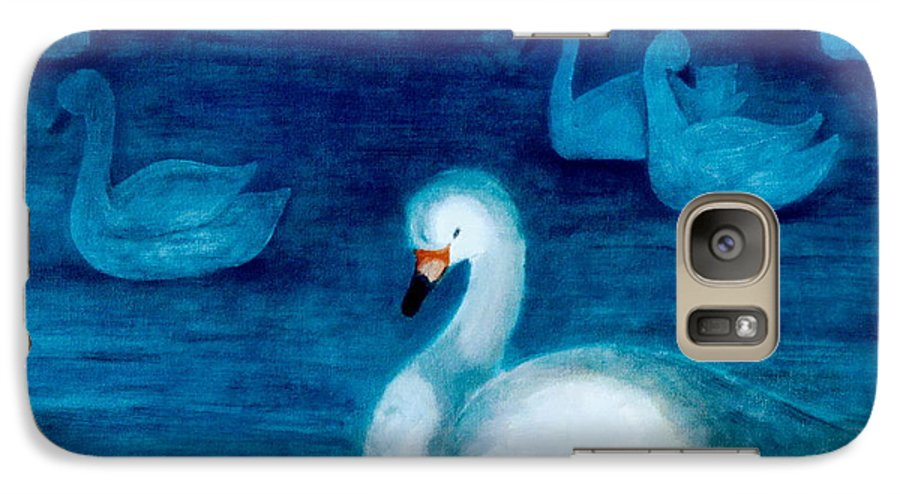 Duck Galaxy S7 Case featuring the painting Reflections 1 by Jun Jamosmos