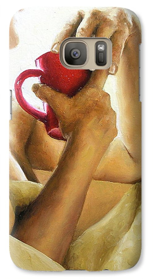 Nude Galaxy S7 Case featuring the painting Reflections 3 by Trisha Lambi