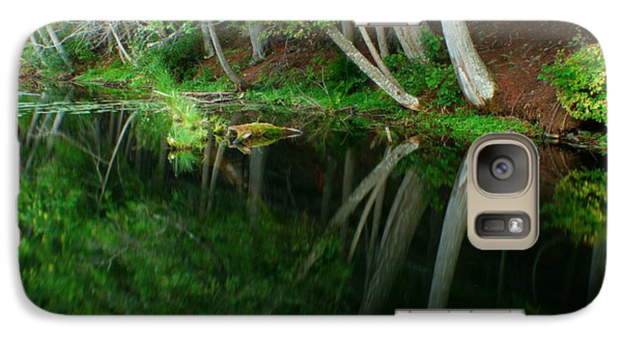 Forest Galaxy S7 Case featuring the photograph Reflections Of A Forest by Idaho Scenic Images Linda Lantzy