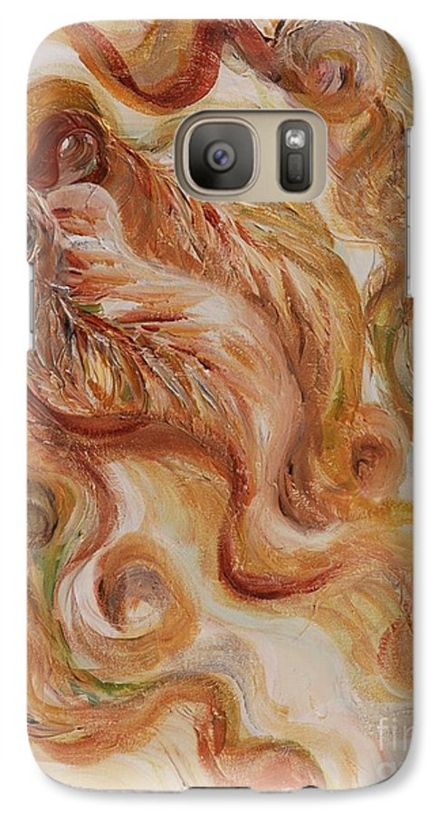 Leaves Galaxy S7 Case featuring the painting Reflective Leaves by Nadine Rippelmeyer
