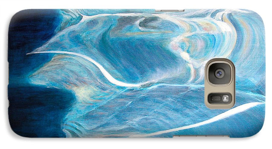 Abstract Galaxy S7 Case featuring the painting Reflet by Muriel Dolemieux