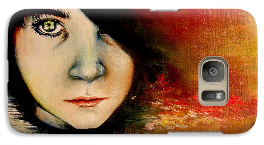 Sunset Galaxy S7 Case featuring the painting Regaining Strenght by Freja Friborg