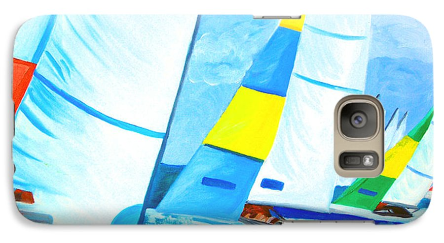 Sailing Galaxy S7 Case featuring the painting Regatta by Michael Lee