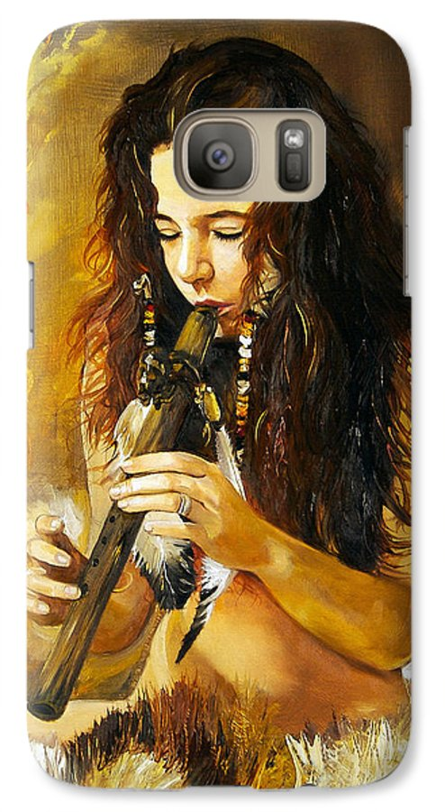 Woman Galaxy S7 Case featuring the painting Release by J W Baker