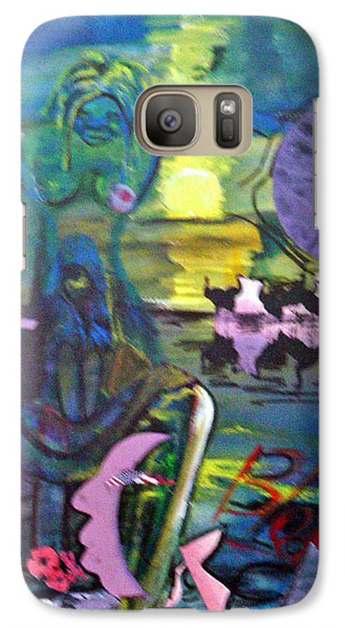Water Galaxy S7 Case featuring the painting Remembering 9-11 by Peggy Blood