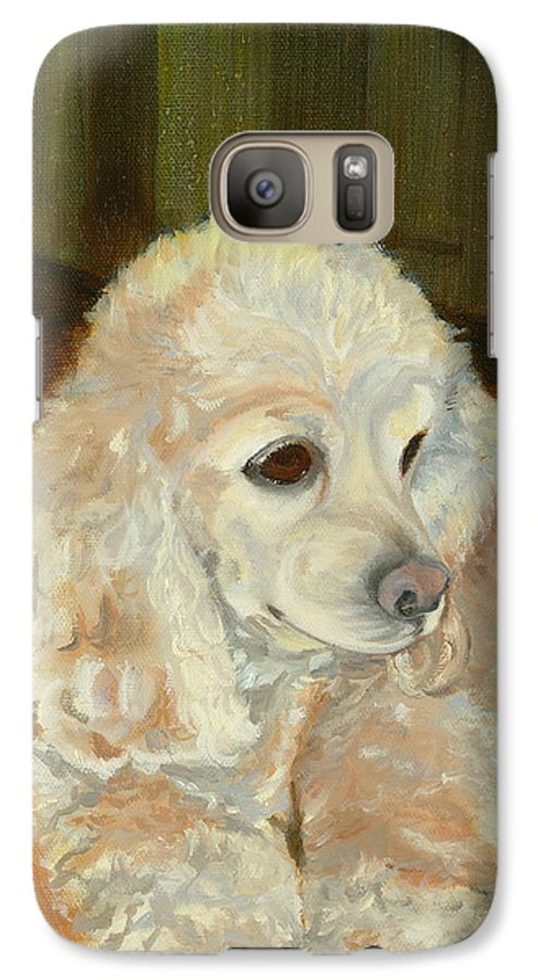 Animal Galaxy S7 Case featuring the painting Remembering Morgan by Paula Emery