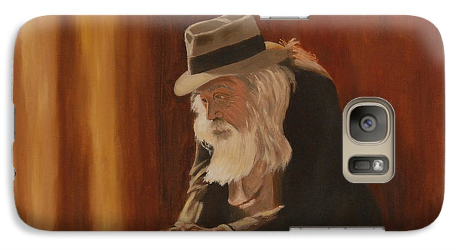 Man Galaxy S7 Case featuring the painting Remembrance by Quwatha Valentine