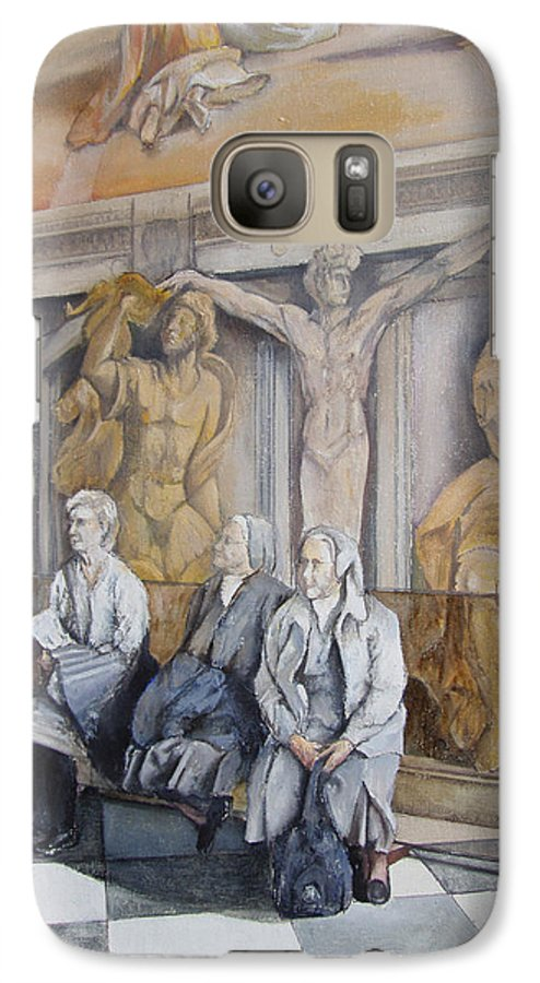 Vaticano Galaxy S7 Case featuring the painting Reposo En El Vaticano by Tomas Castano