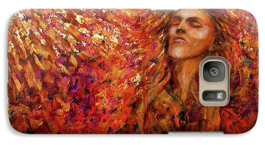Sun Galaxy S7 Case featuring the painting Resonance by Nik Helbig