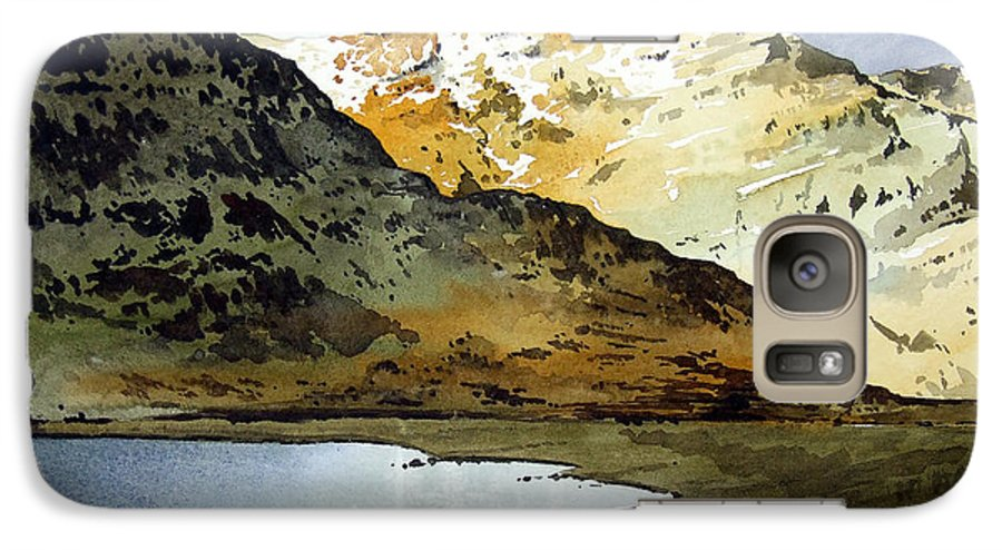 Watercolour Landscape Of Scottish Mountains Galaxy S7 Case featuring the painting Rest And Be Thankful Pass by Paul Dene Marlor