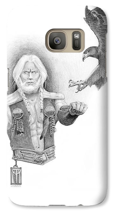 Barbarian Galaxy S7 Case featuring the painting Revan Ramstedder by Melissa A Benson