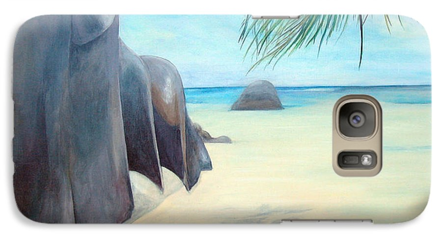 Paysage Galaxy S7 Case featuring the painting Reve by Muriel Dolemieux