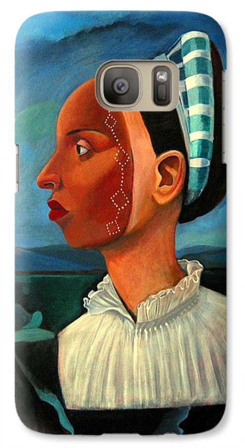 Woman Galaxy S7 Case featuring the painting Revealed Truths And Myths IIi by Joyce Owens