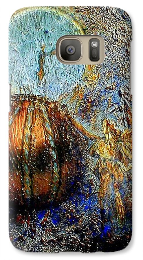 Christian Galaxy S7 Case featuring the mixed media Revelation by Gail Kirtz
