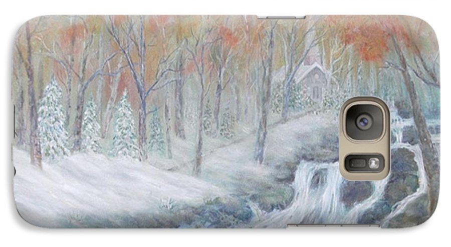 Snow; Landscape; Church Galaxy S7 Case featuring the painting Reverence by Ben Kiger